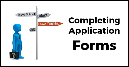 Thinking of Leaving Teaching - Application Forms