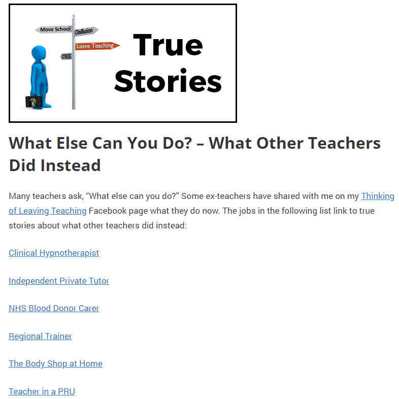 "Screenshot of the ""What other teachers did"" section of this website."