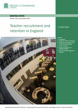 Teacher recruitment and retention in England