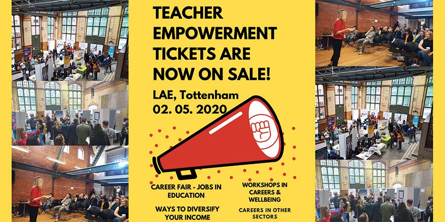 The Teacher Empowerment Project advert for Tickets on sale.