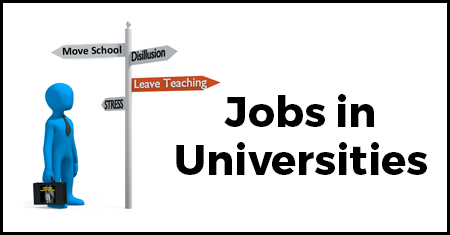 Jobs in Universities
